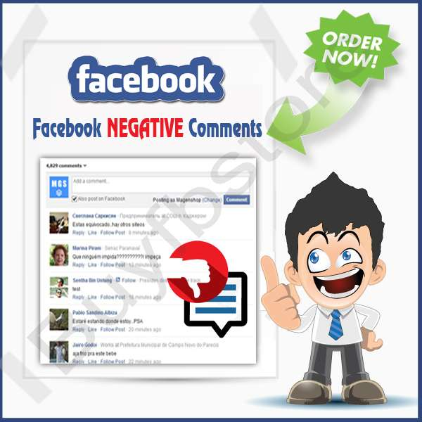 Buy Facebook NEGATIVE Comments